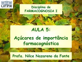 AULA 5: A  cares de import ncia farmacogn stica