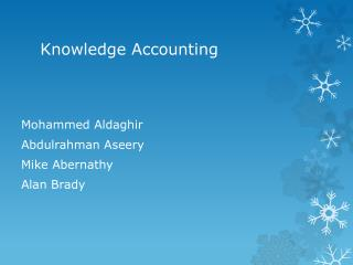 Knowledge Accounting