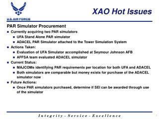 XAO Hot Issues