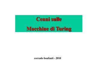 Cenni sulle Macchine di Turing