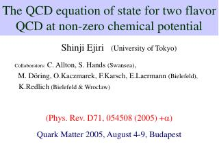 The QCD equation of state for two flavor QCD at non-zero chemical potential
