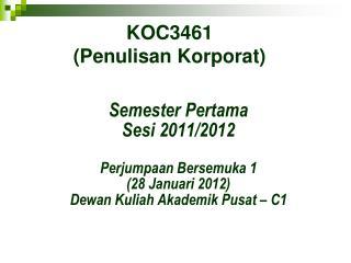 KOC3461 (Penulisan Korporat)