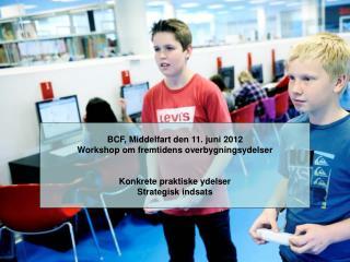 BCF, Middelfart den 11. juni 2012 Workshop om fremtidens overbygningsydelser
