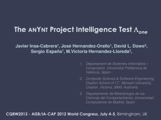 The  anYnt  Project Intelligence Test   one