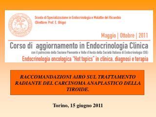 Torino, 15 giugno 2011