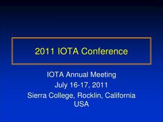 2011 IOTA Conference