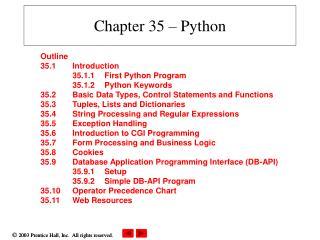 Chapter 35 – Python