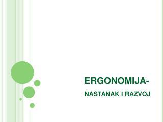 ERGONOMIJA-