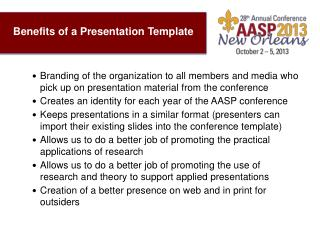 Benefits of a Presentation Template