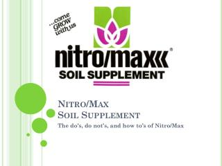 Nitro/Max Soil Supplement