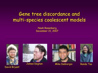 Gene tree discordance and  multi-species coalescent models