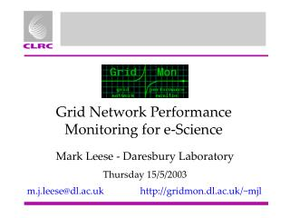 Grid Network Performance Monitoring for e-Science