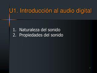 U1. Introducción al audio digital