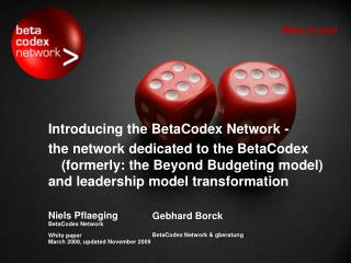 Introducing the BetaCodex Network -