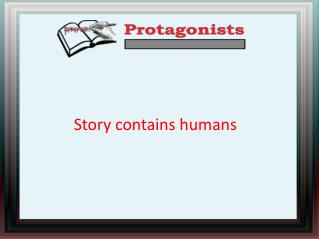 Story contains humans