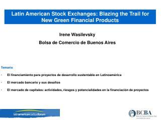 Irene Wasilevsky Bolsa de Comercio de Buenos Aires