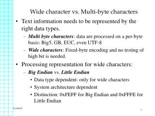 Wide character vs. Multi-byte characters