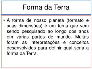 Forma da Terra