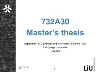 732A30 Master�s thesis