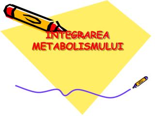 INTEGRAREA  METABOLISMULUI