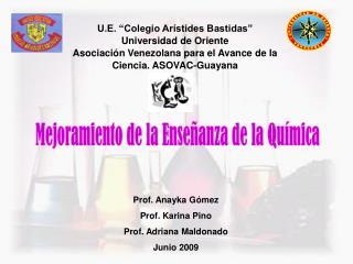 """U.E. """"Colegio Arístides Bastidas"""" Universidad de Oriente"""