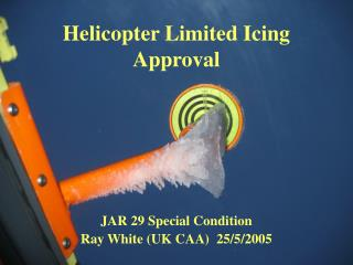 Helicopter Limited Icing Approval