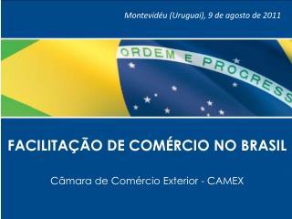 FACILITAÇÃO DE COMÉRCIO NO BRASIL Câmara de Comércio Exterior - CAMEX