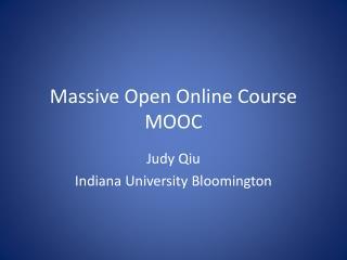Massive  Open Online Course MOOC
