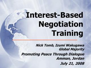 Interest-Based Negotiation Training