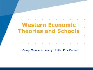 Western Economic Theories and Schools