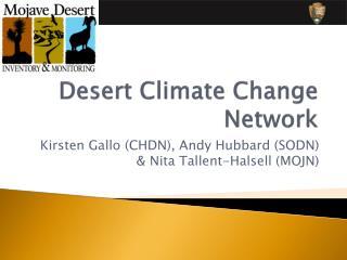 Desert Climate Change Network