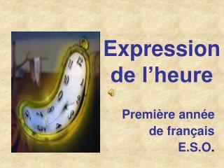 Expression de l'heure