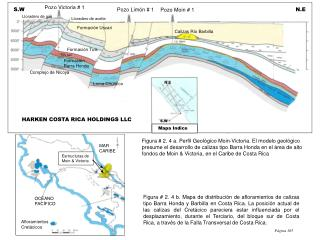 Figura # 2. 4 a. Perfil Geológico Moin-Victoria. El modelo geológico