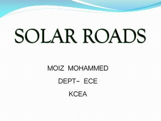 MOIZ MOHAMMED DEPT- ECE KCEA