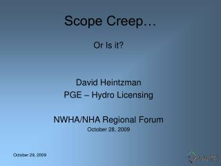Scope Creep…