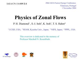 Physics of Zonal Flows