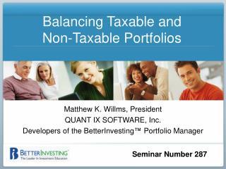 Balancing Taxable and  Non-Taxable Portfolios
