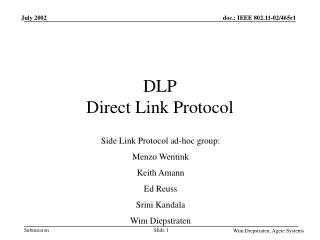 DLP Direct Link Protocol