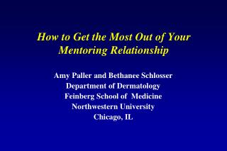 How to Get the Most Out of Your Mentoring Relationship