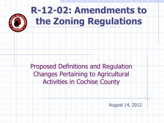 R-12-02: Amendments to the Zoning Regulations