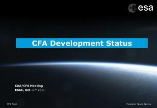 CFA Development Status