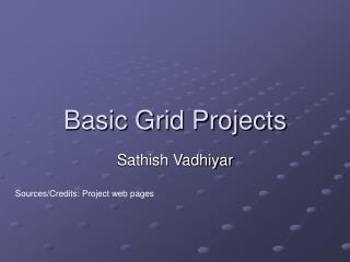 Basic Grid Projects