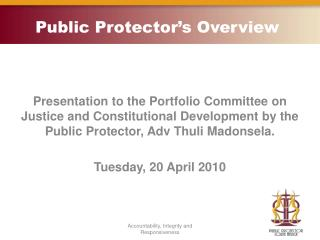 Public Protector's Overview