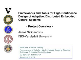 Janos Sztipanovits ISIS-Vanderbilt University