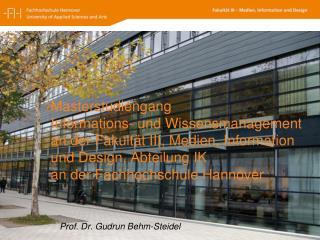 Prof. Dr. Gudrun Behm-Steidel