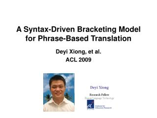 A Syntax-Driven Bracketing Model for Phrase-Based Translation