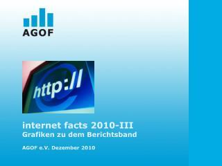 internet facts 2010-III Grafiken zu dem Berichtsband