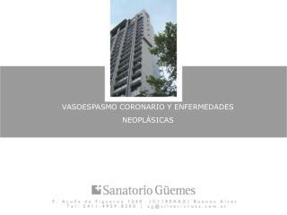 VASOESPASMO CORONARIO Y ENFERMEDADES NEOPLÁSICAS