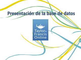 Presentación de la base de  datos