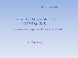 G-matrix folding model による Ξ 核の構造・生成